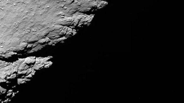 30.set.2016 - Pouco depois de fazer esta imagem a 1,2km do cometa, a sonda foi desligada