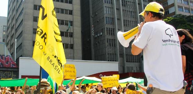 20.nov.2016 - Manifestação convocada pelo Vem pra Rua em apoio ao juiz Sergio Moro e a operação Lava Jato na avenida Paulista