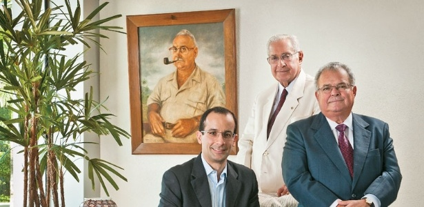 Família Odebrecht (da esquerda para a direita): Marcelo, Norberto e Emílio