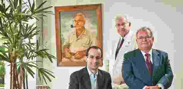20.abr.2017 -- Família Odebrecht (da esquerda para a direita): Marcelo Odebrecht, ex-presidente e herdeiro do grupo, Norberto, fundador, e Emilio, ex-presidente do Conselho da Odebrecht S.A. - Acervo Odebrecht