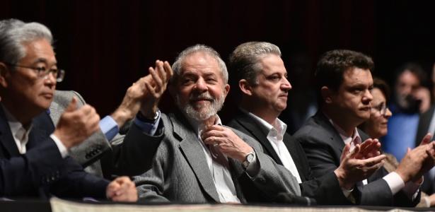 O ex-presidente Luiz Inácio Lula da Silva durante evento em BH