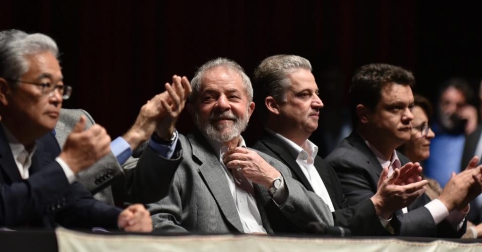 10.jul.2017 - Ex-presidente Luiz Inácio Lula da Silva participa do lançamento da segunda fase do Memorial da Democracia, no Palácio das Artes, em Belo Horizonte (MG)
