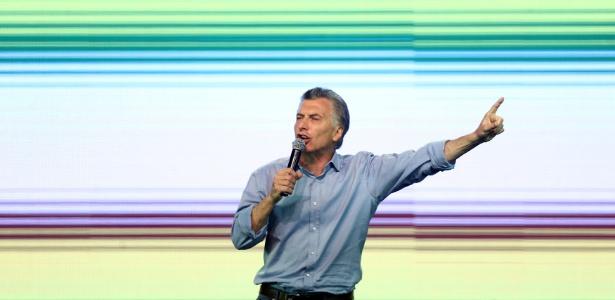 Presidente argentino Mauricio Macri durante campanha eleitoral