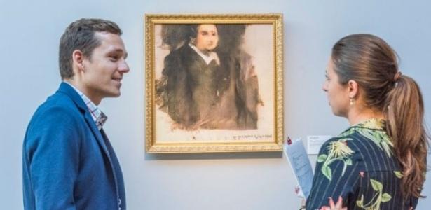 """Quadro """"Edmond Belamy"""", pintado por um algoritmo de inteligência artificial, foi arrematado por US$ 432 mil - Divulgação/Obvious Art"""