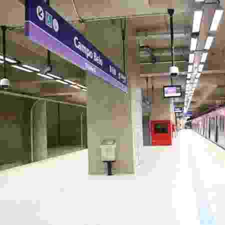 08.abr.2019 - Estação Campo Belo, da linha 5 lilás do metrô  - Carlos Tristão/ASI/Estadão Conteúdo
