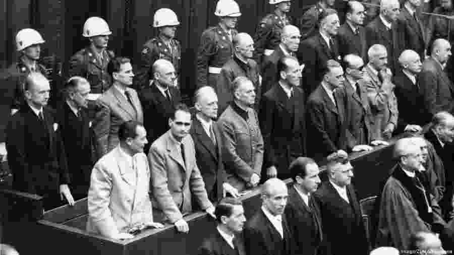 Líderes do regime nazista em fotografia tirada em 1946, durante os julgamentos em Nurembergue - Zuma/Keystone