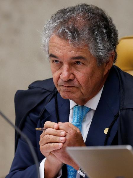 Marco Aurélio Mello durante sessão do STF -