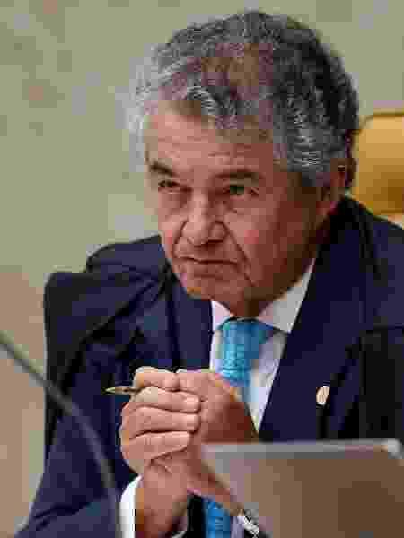 O ministro Marco Aurélio Mello durante sessão do STF - Reprodução