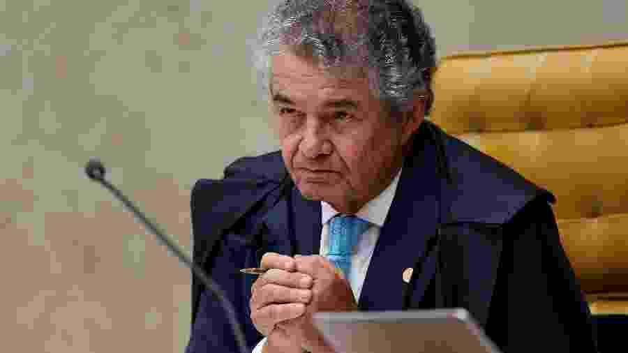 Marco Aurélio Mello durante sessão do STF - Reprodução