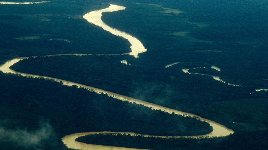 Vista aérea da Amazônia, no Brasil - Getty Images