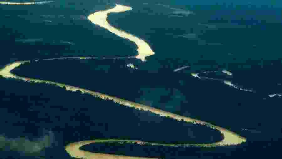 14.mar.2015 - Vista aérea da Amazônia, no Brasil - Getty Images