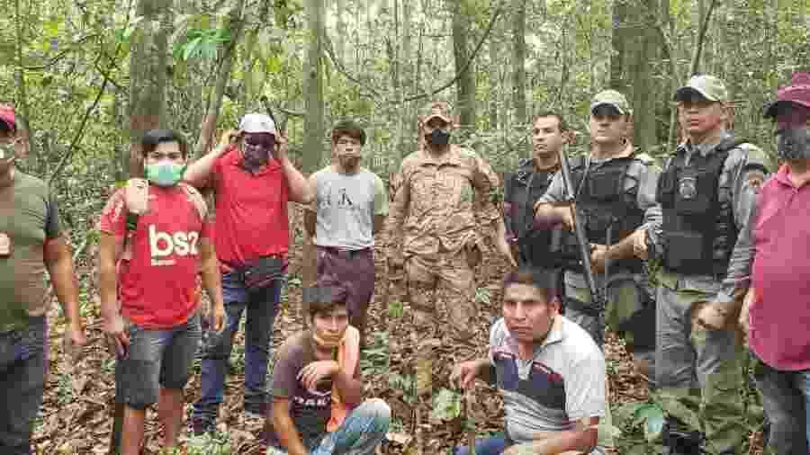 Policiais buscaram corpos de bolivianos na mata por mais de 36 horas - Divulgação/PM Acre