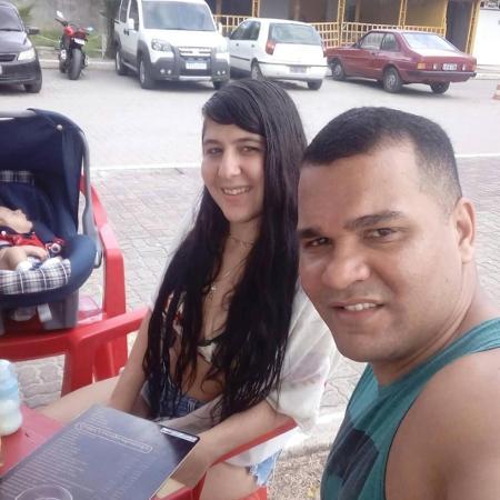 O cabo da PM Leandro Alves Siqueira e a mulher, Priscilla da Veiga Freitas - Arquivo Pessoal