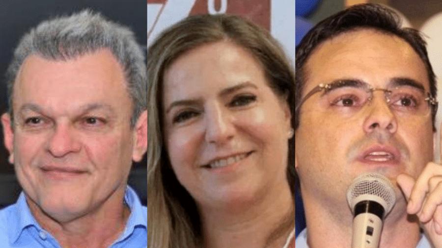 Sarto, Luizianne Lins e Capitão Wagner disputam a Prefeitura de Fortaleza - Arte/UOL
