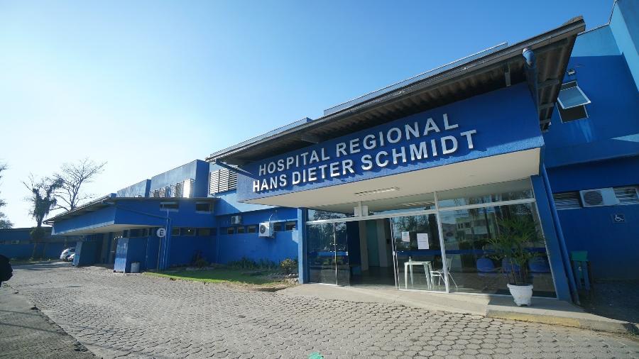 Flagrante é parte de operação contra médicos do Hospital Regional Hans Dieter Schmidt, em Joinville (SC) - Governo de SC/Divulgação