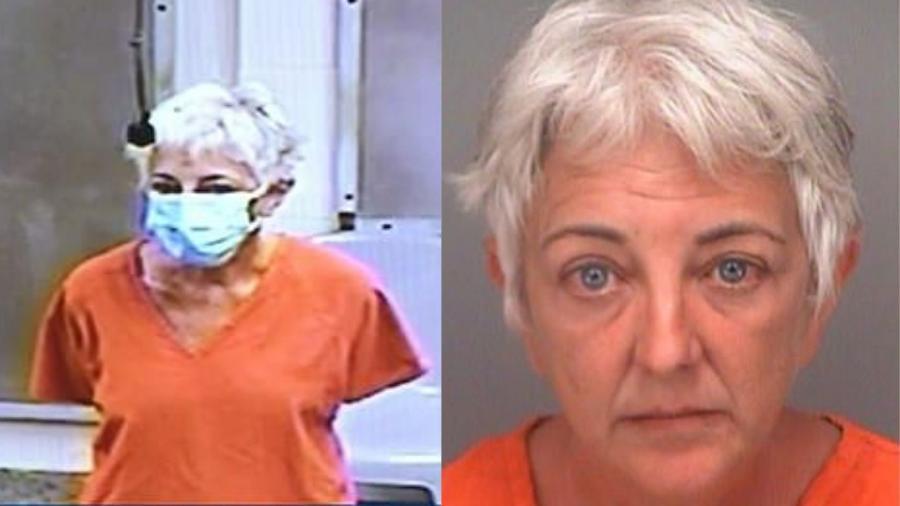 """Christina Reszetar, de 51 anos, foi presa sob a acusação de espirrar desinfetante em seus alunos na Flórida (EUA) - Reprodução/Pinellas County Sheriff""""s Office"""