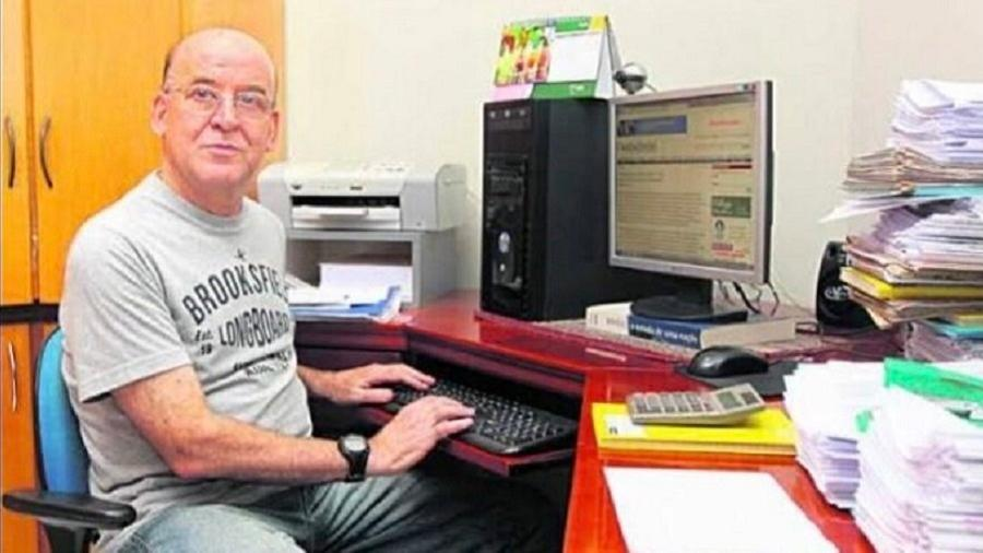 O jornalista Daniel José de Lima, de 70 anos, foi baleado após uma discussão com o dono do pet shop - Reprodução