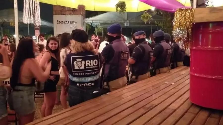 Operação interditou bar no Jockey Club do Rio de Janeiro - Secretaria de Ordem Pública do Rio de Janeiro/Divulgação