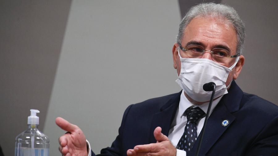 Ministro Saúde, Marcelo Queiroga, na CPI da Covid - Jefferson Rudy/Agência Senado