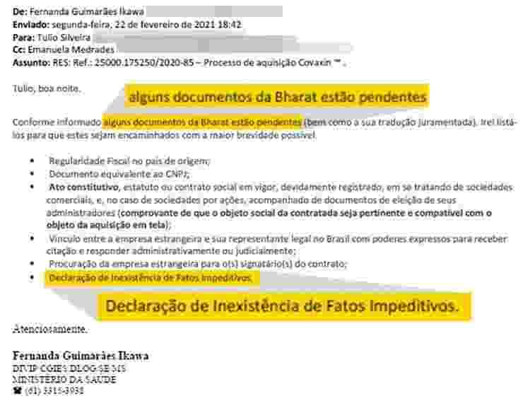 e-mail precisa e ministério da saúde - Arte/UOL e Reprodução - Arte/UOL e Reprodução