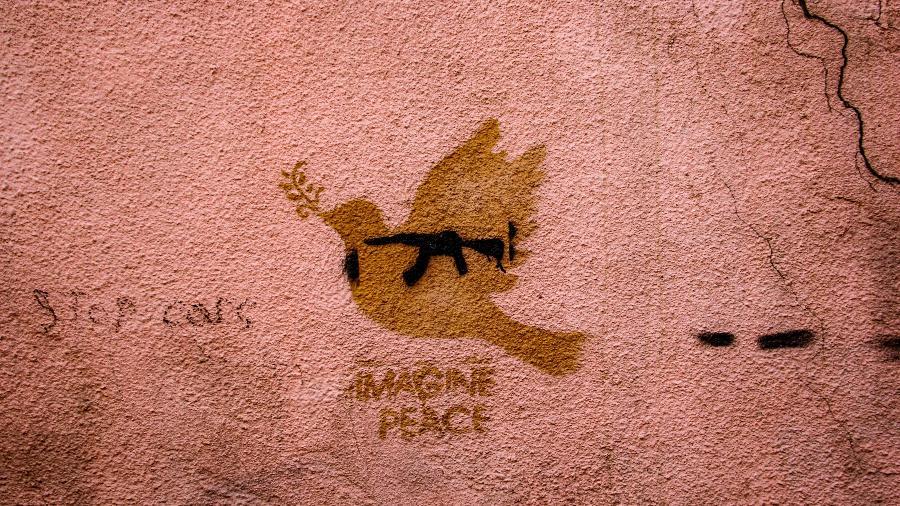 "Street art ""Peace"", em Tbilisi, na Georgia  -  Zaur Ibrahimov/https://unsplash.com"