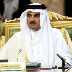 O emir do Qatar, o xeque Tamim bin Hamad al-Thani