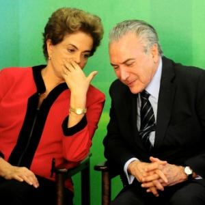 Os presidentes Dilma Rousseff e Michel Temer