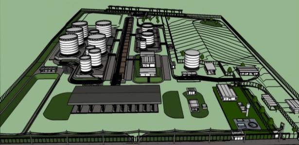 O projeto do centro de distribuição de combustíveis, para a BR Distribuidora