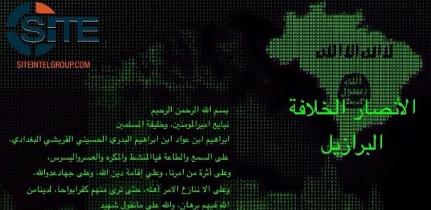 Imagem divulgada pela agência de contraterrorismo SITE