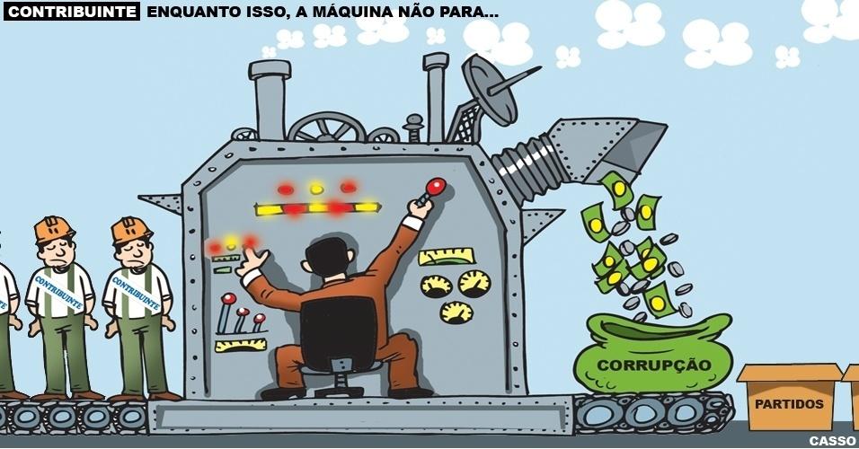 15.ago.2016 - Enquanto o povo se distrai vendo os Jogos Olímpicos, a corrupção continua