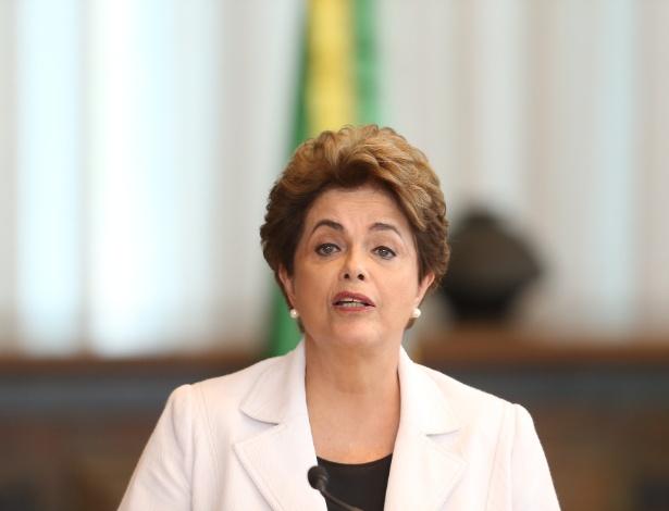 Dilma, em agosto de 2016, quando fez um discurso à nação ainda no Palácio da Alvorada