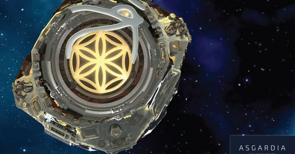 Conceito artístico de Asgardia, que pretende ser a primeira nação espacial