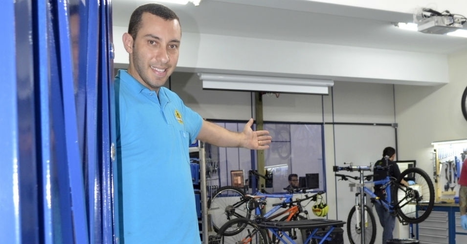 Henrique Zompero, proprietário da Escola Park Tool