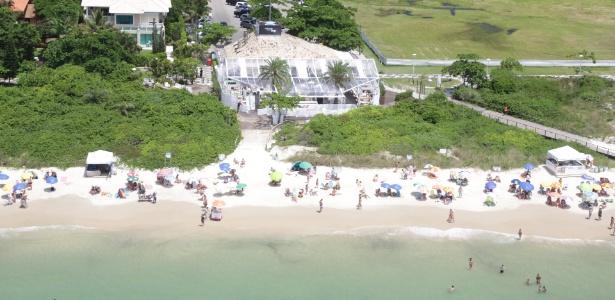 Praia em Jurerê, em Florianópolis, nos anos 2000