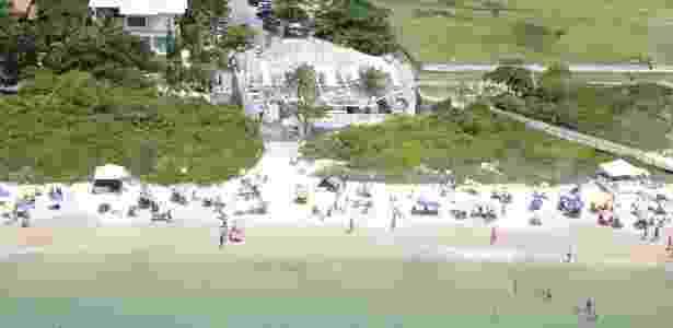 Praia em Jurerê, em Florianópolis, nos anos 2000 - Habitasul/Divulgação