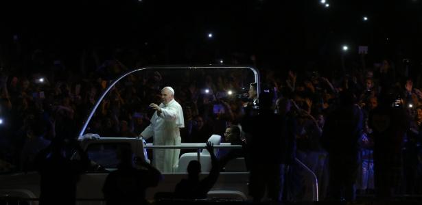 Papa Francisco durante passagem em Filadélfia, nos EUA, em setembro de 2016