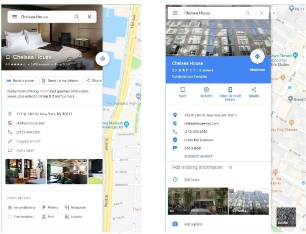 Antes e depois da mudança de visual do app do Google Maps