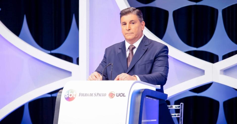 O apresentador Carlos Nascimento, que comandou o debate presidencial promovido pelo UOL, Folha e SBT