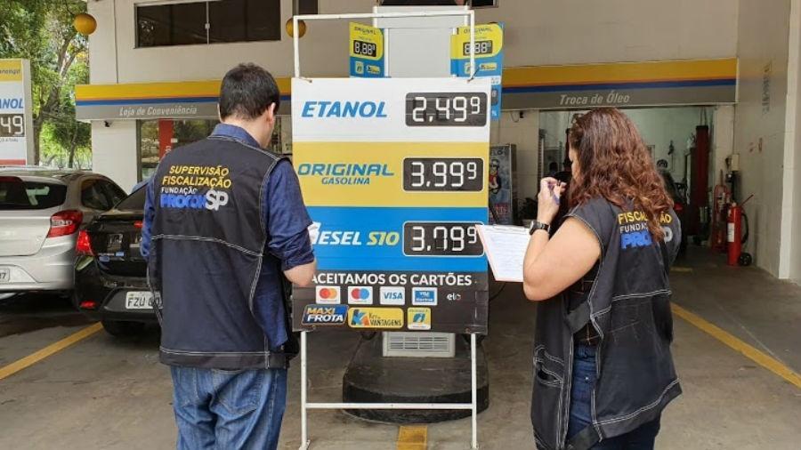 Procon-SP fiscaliza postos de combustíveis  - Divulgação/Procon-SP