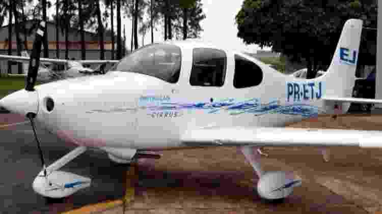 O Avião de pequeno porte, matrícula PR-ETJ, que caiu hoje em Belo Horizonte. Ele foi vendido em 15 de julho deste ano - Mercado do Avião/Divulgação