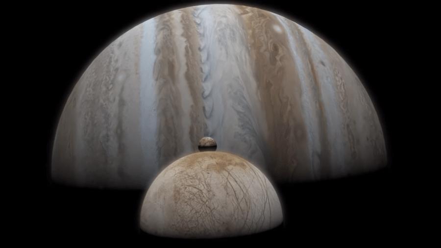 Europa, uma das 79 luas de Júpiter - Divulgação/Nasa