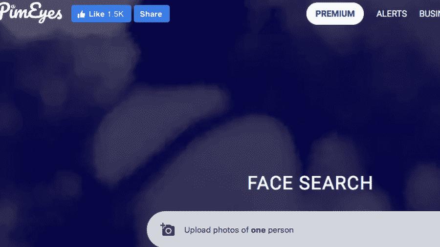 Os usuários podem enviar uma foto e receber informações sobre onde imagens daquela pessoa foram publicadas - PimEyes
