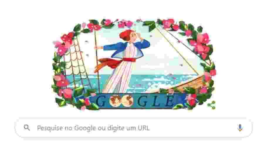 27.jul.2020 - Google faz homenagem ao 280º aniversário de Jeanne Baret - Divulgação