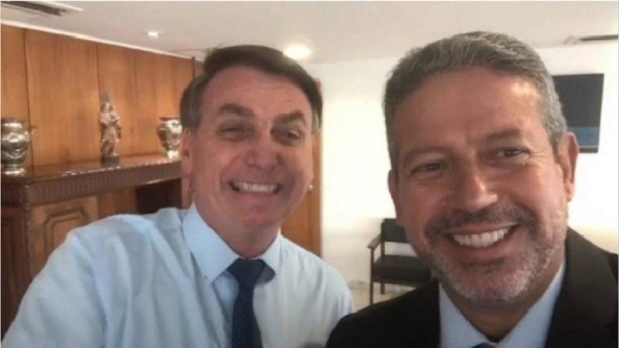 O presidente Jair Bolsonaro e o deputado Arhur Lira, seu escolhido para a eleição da Câmara dos Deputados  - Reprodução