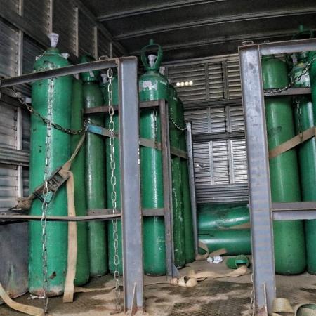Na manhã de hojeo prefeito conseguiu comprar 20 balas de oxigênio na cidade de Santarém (PA) - Divulgação/SSPAM