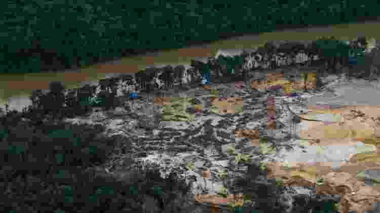 Impacto do garimpo no rio Parima, na Terra Indígena Yanomami, dezembro de 2020 - Divulgação - Divulgação