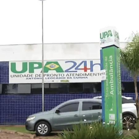 Menino foi levado para UPA de Luziânia, mas não resistiu; irmão de 7 anos teve apenas ferimentos leves - Reprodução/TV Globo