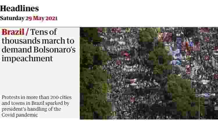 Guardian repercute protestos no Brasil - Reprodução/The Guardian - Reprodução/The Guardian