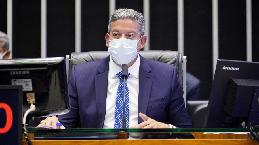 16.jun.2021 - O presidente da Câmara, deputado Arthur Lira (PP-AL), durante discussão de projetos de lei - Pablo Valadares/Câmara dos Deputados
