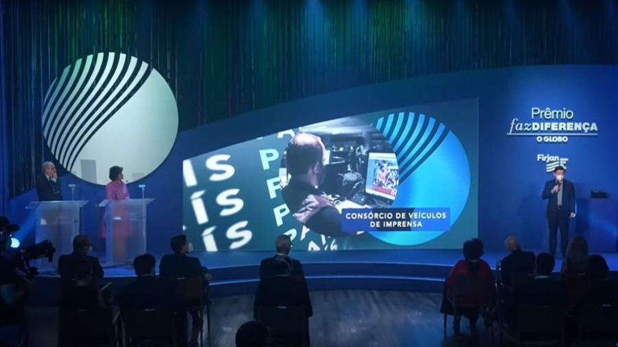 Consórcio de veículos de imprensa vence uma das categorias do Prêmio Faz Diferença - Reprodução